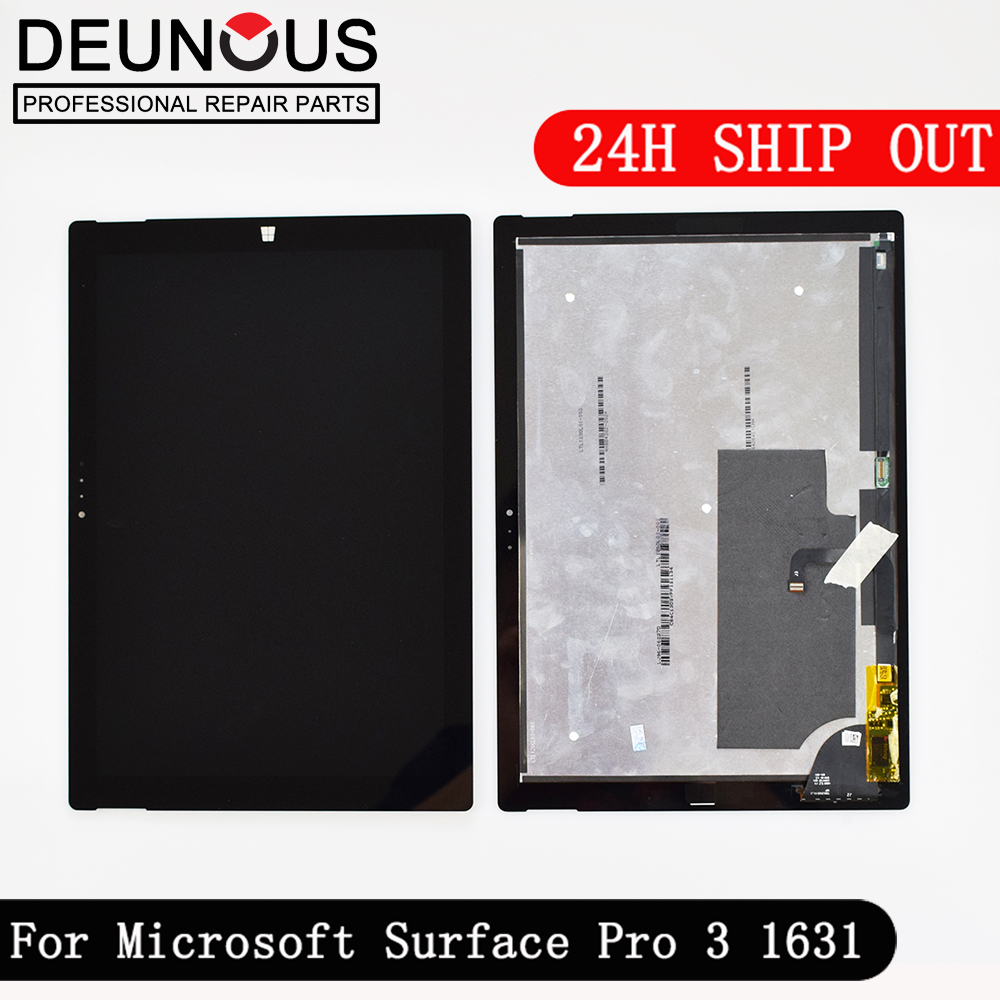 New Assembly For Microsoft Surface Pro 3 Pro3 ( 1631 ) touch screen +LCD Display replacement Tom12h20 v1.1 LTL120QL01 003