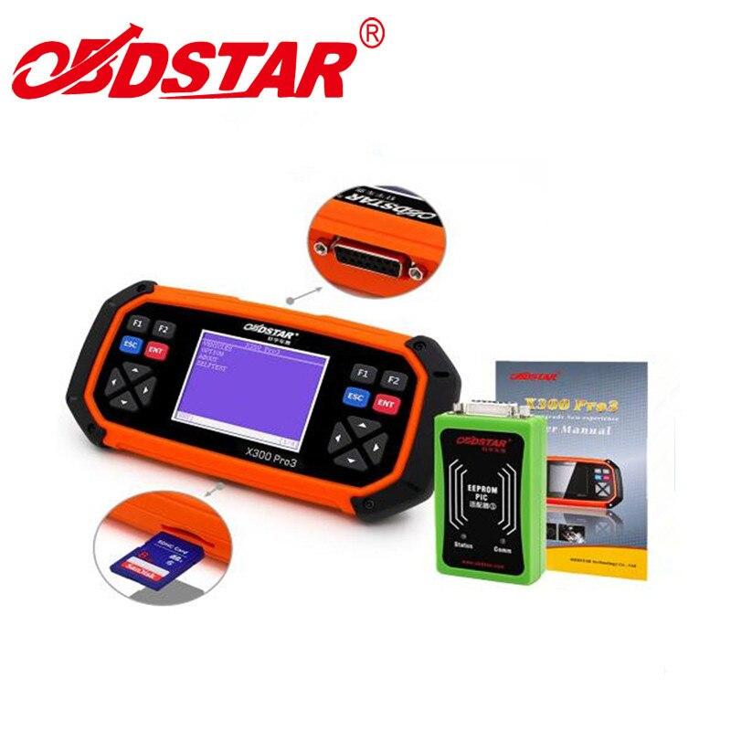 Оригинальный obdstar X300 PRO3 Auto Key Программист + БД пробег регулировки + EEPROM + инструмент диагностики OBD PK CK100 SKP900 x100 PAD2