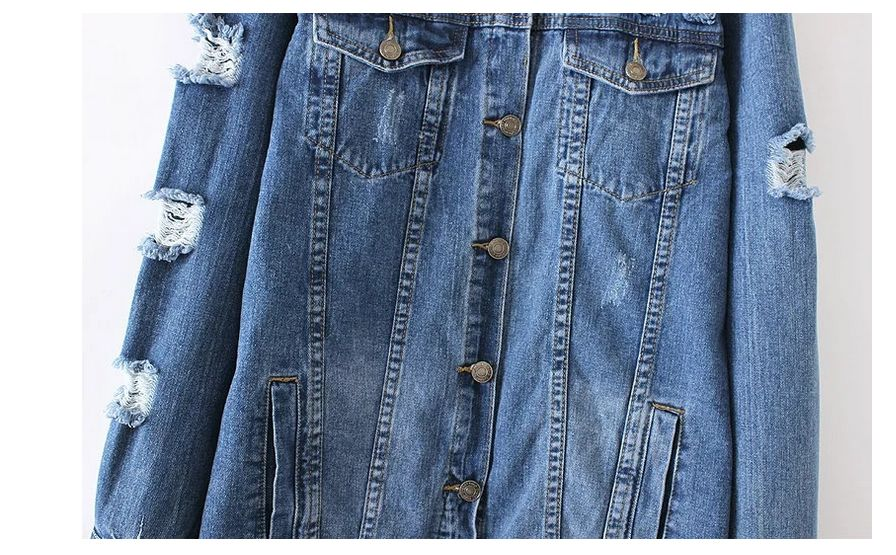 Veste jean manche coton