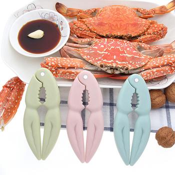 Lobster krab Cracker Oyster Shucker Crab Peel krewetki szczypce Caws Sheller orzech orzech klip Calmp Sea Food Tool gadżety kuchenne tanie i dobre opinie Z tworzywa sztucznego Owoce morza crackers i wybiera CrabPP-3 Ce ue Ekologiczne Owoce morza narzędzia 13 2cm*4 7cm Pink Blue Green