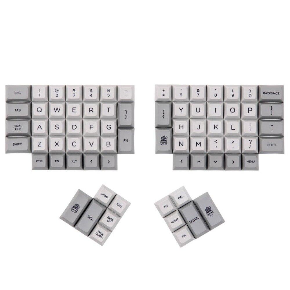 DSA ERGO Dye Sub keycap Grey and Milky color 95 keys within personality additional for Ergodox