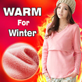 Nursing Tops Maternity sweater  Breast feeding clothes autumn and winter Nursing Tops Long Sleeve  for Pregnant Women