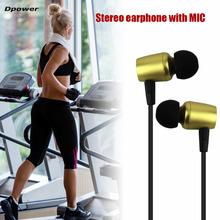 Dpower Magnetic Bluetooth 4.2 Wireless In-Ear Earphone with Microphone Sweatproof Stereo Headset Metal Headphones Hot Sale
