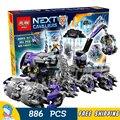 886 unids nueva sede de caballeros 14031 jestro 3d diy bloques de construcción modelo niños juguetes nexus compatible con lego