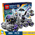 886pcs New Knights 14031 Jestro's Headquarter 3D DIY Model Building Blocks Boys Toys Nexus Compatible with Lego