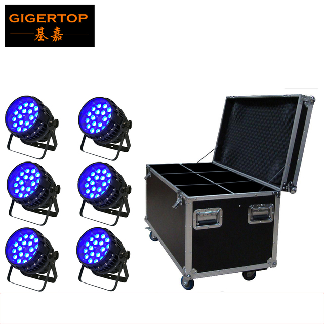 dj sound system. 6in1 flightcase pack 18*12w power par can light dj sound system waterproof zoom tyanshine dj m