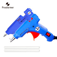 Prostormer Hot Melt Glue Gun with Glue Stick 7mm 11mm Mini Guns Thermo Electric Heat Temperature Tool pistola de silicona calien(China)