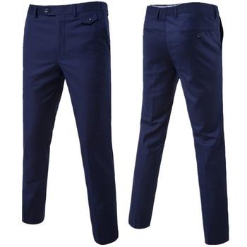 2017 slim fit homens de negócios de verão calças formais calças do noivo do casamento calças S-6XL 9 cores calças de alta qualidade 1