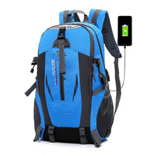 waterproof USB unisex men backpack travel pack sports bag pack Outdoor Mountaineering Hiking Climbing Camping backpack for male