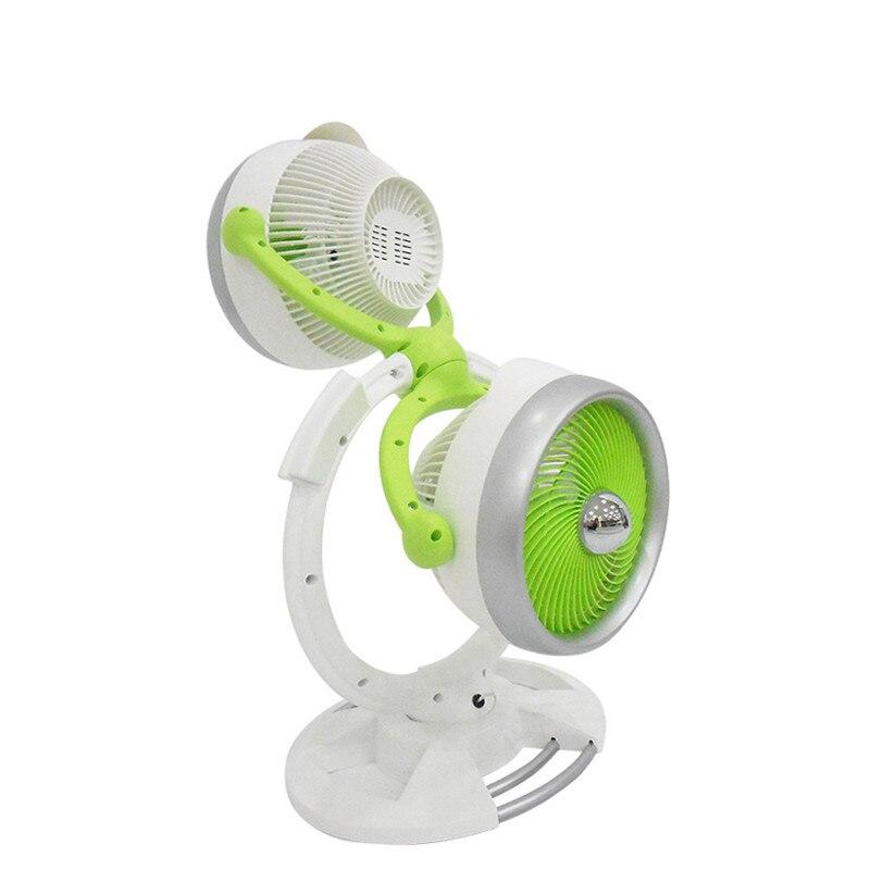 купить 220V Double Head Electric Fan Air Circulation Fan 3 Gear Energy Serve Strong Wind Circulate Warm Or Cold Wind Portable Fan онлайн
