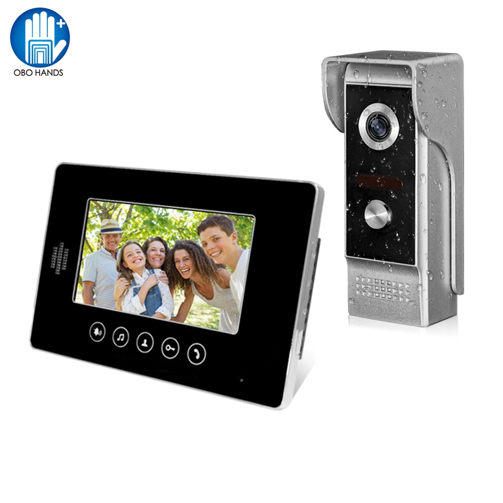 Wired Video Doorbell Phone 7 Video Intercom Monitor Doorphone System kits Support Unlock Dual-way Audio for Villa House Use 7 inch video doorbell tft lcd hd screen wired video doorphone for villa one monitor with one metal outdoor unit night vision