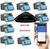 DC12V 1 канал Беспроводной Дистанционное управление переключатель Умный дом Системы Broadlink RM Pro + 12 приемник, iphone/Android WI FI + rf