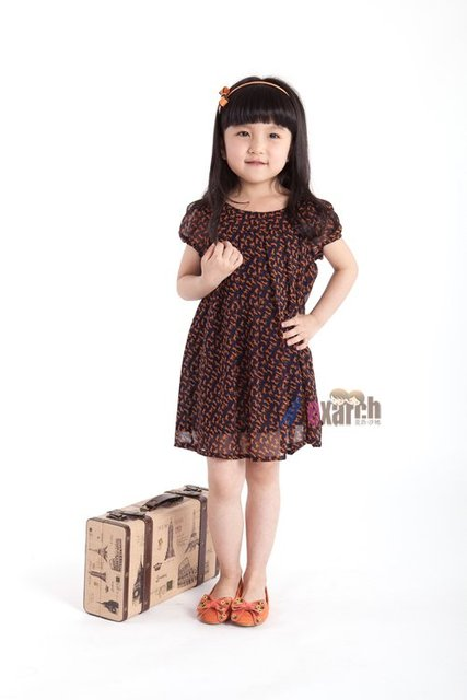 Free shipping!!Factory Direct! HOT SELLING! TOP QUALITY! Children's clothing fashion baby girls short-sleeved lace dress A1039
