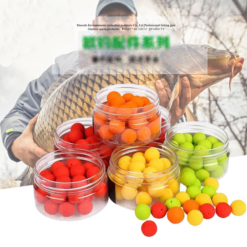 25-80pcs Smell Ups Carp Fishing Bait Boilies PVA Floating Ball Beads Feeder 8mm-14mm Artificial Carp Baits Lure Hair Rig image