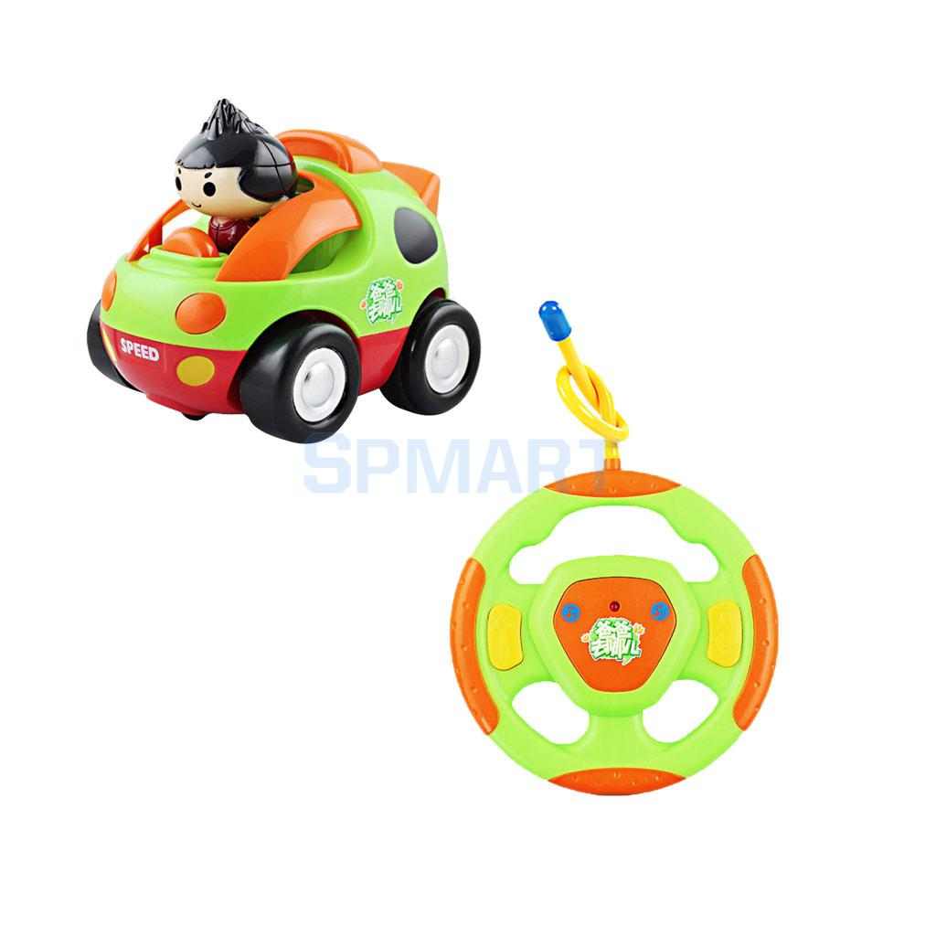 Cartoon Radio Remote Control Cool Boy Race Car Kids Toddlers Light Music Toy Perfect Gifts