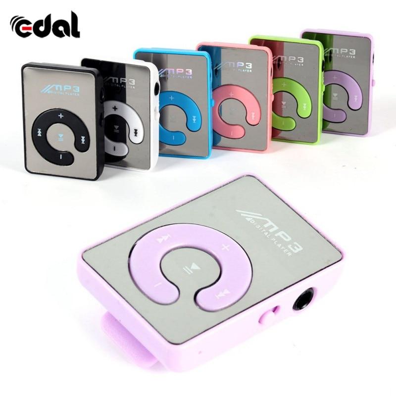 Newest Mini Mirror Clip USB Digital Mp3 Cheap Music Player Support 8GB SD TF Card 6 Colors A57