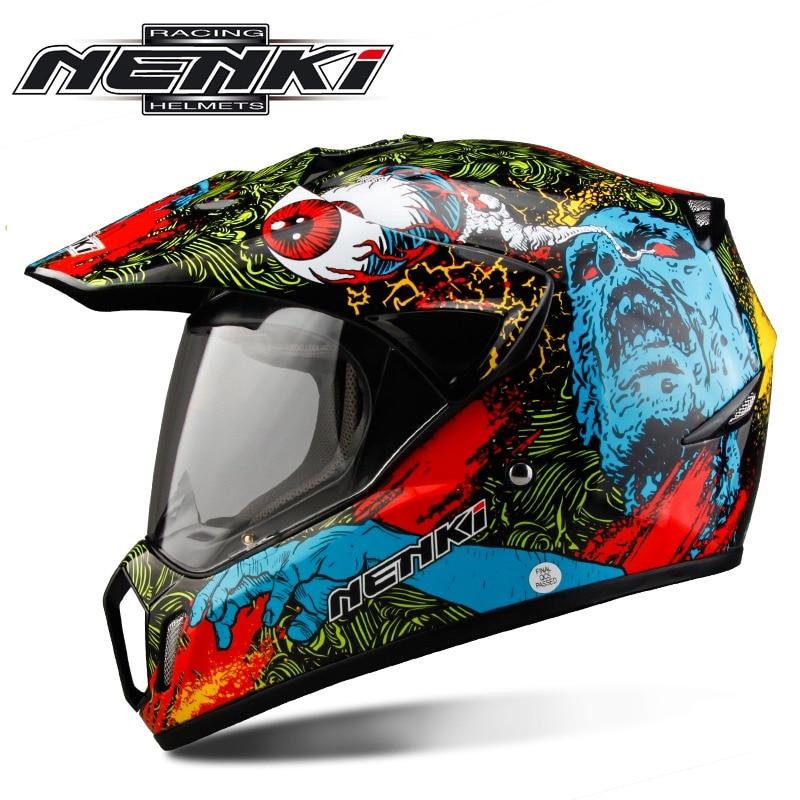 Nenki Brand Motorcycle capacete Motocross helmet Moto Bike casco with Shield lens Casque MX310 nenki brand mx316 off road motorcycle helmet fiberglass motocicleta capacete casco