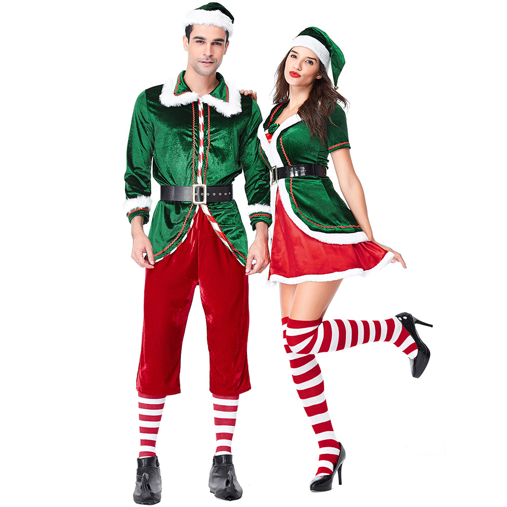 Spirit Of Christmas Past Costume.Us 19 99 30 Off Velvet Lovers Green Spirit Of Christmas Elves Costumes For Woman And Man Christmas Party Cosplay In Holidays Costumes From Novelty