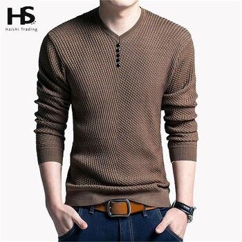V-Neck Πουλόβερ Ανδρικό Slim Fit Αντρικές Μπλούζες Ρούχα MSOW