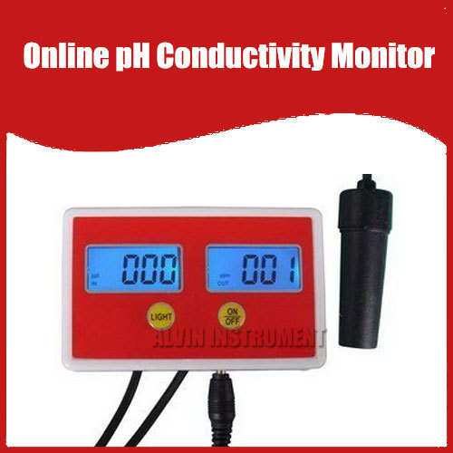 Free Shipping Aquarium Online PH / Conductivity Monitor ph meter Conductivity meter tester 0.00-1999US/CM  цены