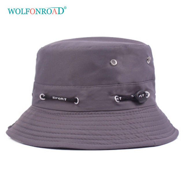 25e420fde9d WOLFONROAD Summer Men Women Camping Fishing Hat Walking Hiking Cap Nepalese  Hats Sun Protection Breathable Cap