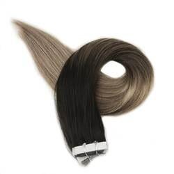 Полный глянцевая лента в волос Цвет #1B/8/22 черный выцветания блондинка выметания Хаара 20 штук в посылка Remy натуральные волосы Extensiones