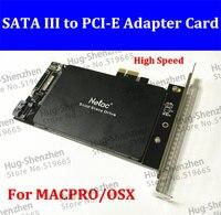 Высокая Скорость pci-e Экспресс SATA III SSD адаптер с SATA III порт для Mac Pro 08-12/OSX 10.8-10.12/mp3.1-5.1
