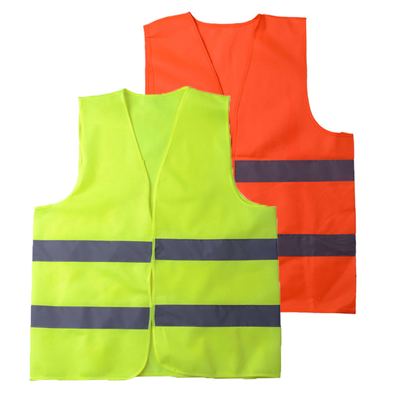 High Visibility Reflective Fluorescent Vest Safe Reflective clothing Ventilate Vest Environmental Sanitation Coat
