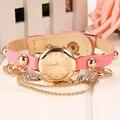 FANALA Женщины Одеваются Часы Кварцевые Наручные Часы Кожаный Браслет Золотые Часы Роскошные Женщины Лучший Бренд Свободный Корабль 58 #