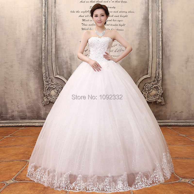 S Stock 2016 New Plus Size Women Ball Bridal Gown Brief