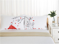 2017 Valentine S Day Present Lovers Use Lover Tree Home Decoration White Color Couples Pillowcase Pillow