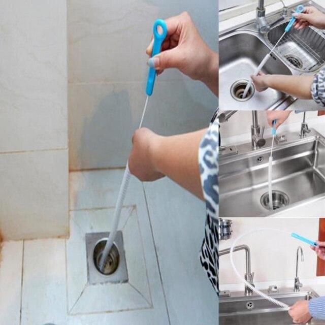 71 cm szczotka do czyszczenia kanału odpływowego zginalny zlew z hydromasażem wanna rura czerpakowa wąż pędzle kreatywna łazienka akcesoria kuchenne