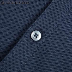 Image 5 - Giordano Men Polo Shirt Men Pique Fabric Slim Fit Short Sleeves Contrast Color Polo Men Shirt Smooth Durable Camisa Polo