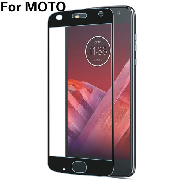 2.5D Full Cover Protective Tempered Glass For Moto G4 E5 G6 G7 Plus G5S E4 C Plus Z2 Force Z3 Play Colored Screen Protector Film