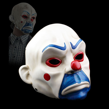 High-Grade Harz Joker Bank Räuber Maske Erwachsene Clown Batman Dark Knight Halloween Prop Maskerade Partei Kostüm Phantasie Kleid decor