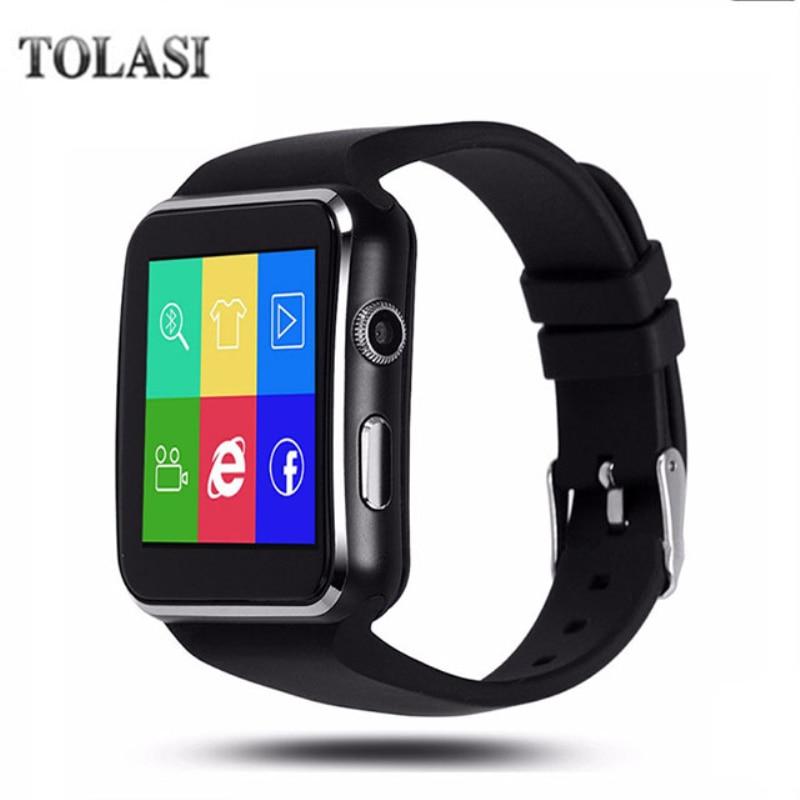NK6 TOLASI Smartwatch Bluetooth Relógio Inteligente Esporte Passometer com Suporte de Câmera Cartão SIM Whatsapp Facebook para Android Telefone