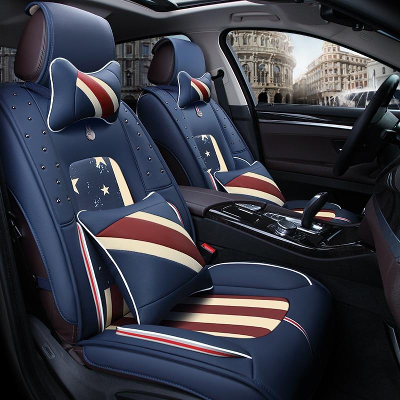 3D Car Seat Cover High-Fiber Leather ,Car Styling For Volkswagen Beetle CC Eos Golf Jetta Passat Tiguan Touareg sharan