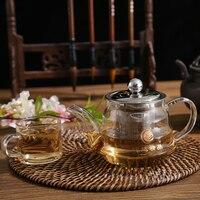 Vidro de vidro pequeno claro borosilicato bebendo chinês solto bule de chá chaleira com filtro de aço inoxidável infusor e tampa|Bules|Casa e Jardim -