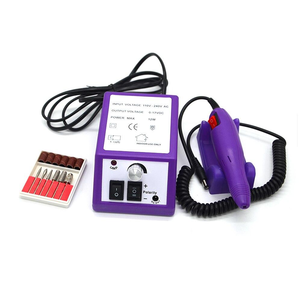 Pro Electric Nail Art Drill File Bits Machine Manicure Kit