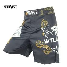 цена на SUOTF Men's Yellow Poker Warrior Boxing Fitness Breath boxing shorts Tiger muay thai boxing shorts cheap mma shorts kickboxing