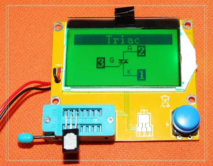 LCR-T4 graphical multi-function tester capacitor + inductance + resistor + SCR + transistor diode + mos цена