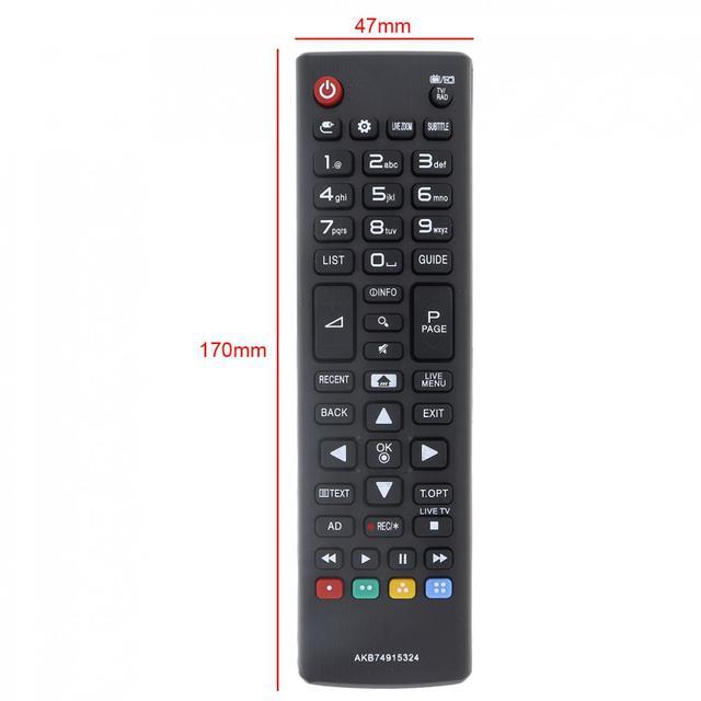 AKB74915324 télécommande de remplacement pour téléviseur avec longue Distance de Transmission pour LG TV 43UH610V / 50UH635V /32LH604V