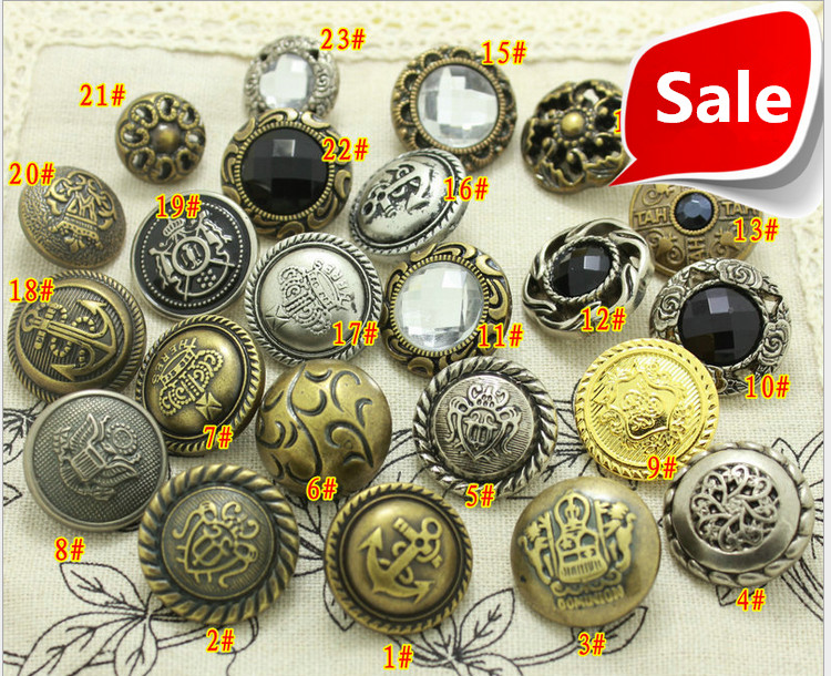 21.5mm Sewing Plastic Gold button for Craft Garment Accessories ABS Vintage Crown Buttons wholsesale FREE SHIPPING