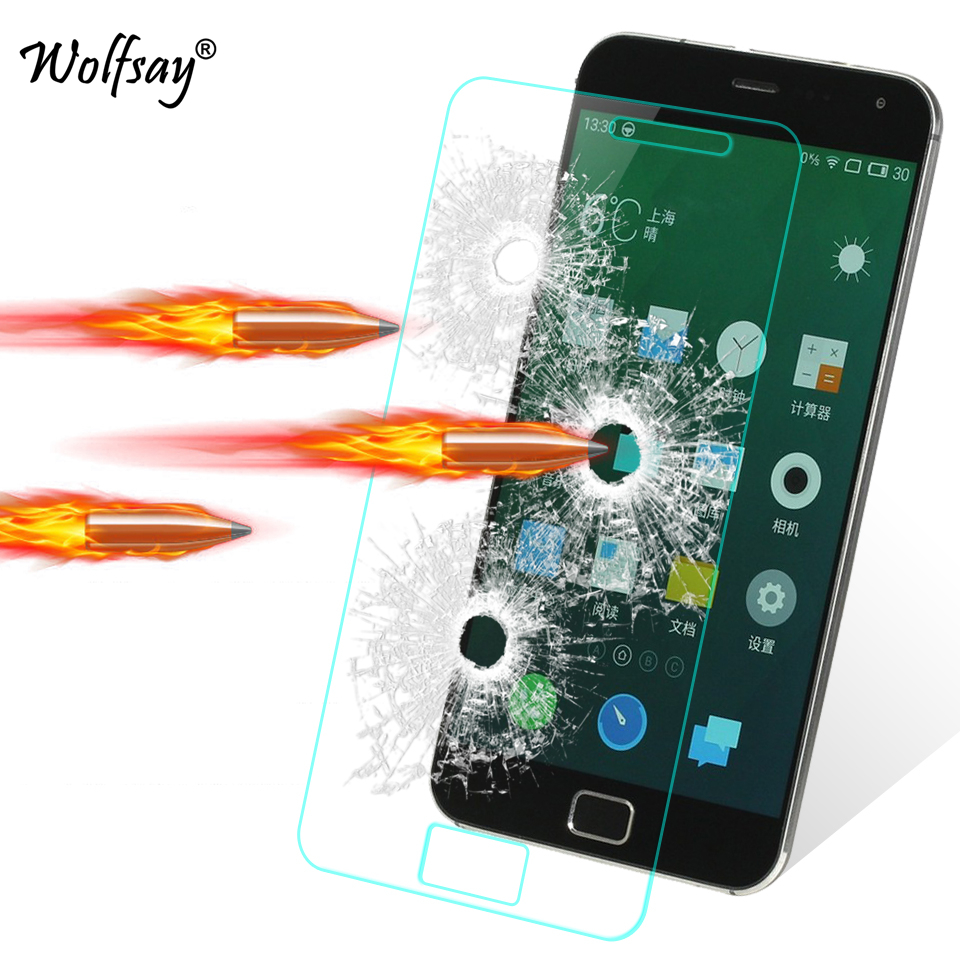 2PCS Tempered Glass Meizu MX4 Pro Screen Protector For Meizu MX4 Pro Glass MX 4 Pro Film Anti-scrath Protective Film Wolfsay