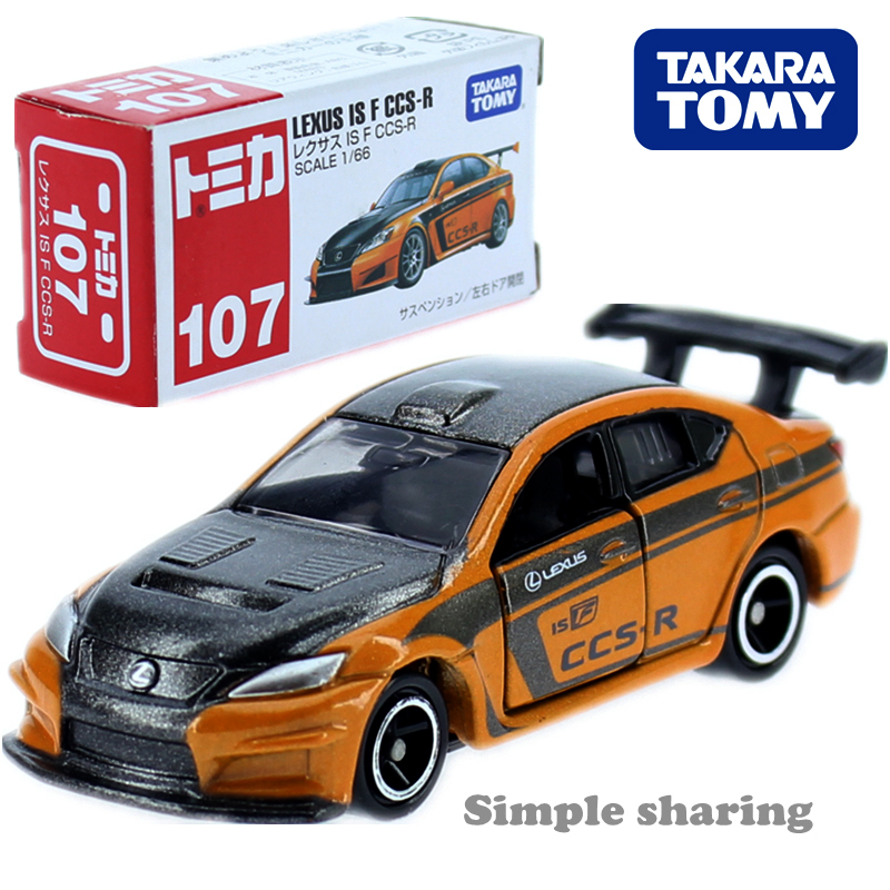 TAKARA TOMY TOMICA LEXUS ISF CCS R RACE Car Toy No.107 Diecast Miniature Model Kit Collectibles Hot Pop Kids Toys For Children