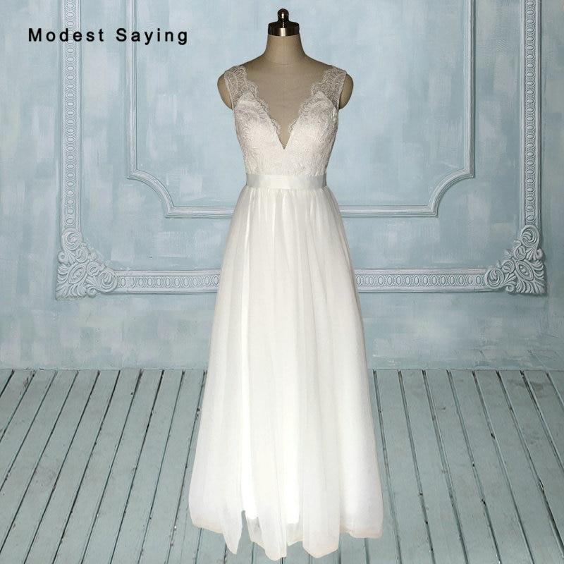 Vintage Elegant Bohimian Lace Wedding Dresses 2017 Buttons White Long Bridal Reception Gowns vestido de noiva black friday DW18