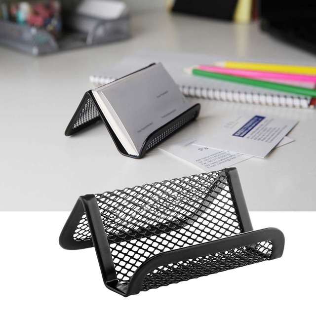 Nc metal mesh desktop collection business card name card holder nc metal mesh desktop collection business card name card holder organizer stand black colourmoves