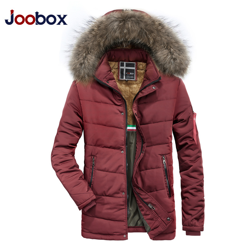 2018 Man Warm Winter Brand Jacket Luxury Detachable Fur Collar Turtleneck Windproof Concise Comfortable Cuffs Mens jackets Cots