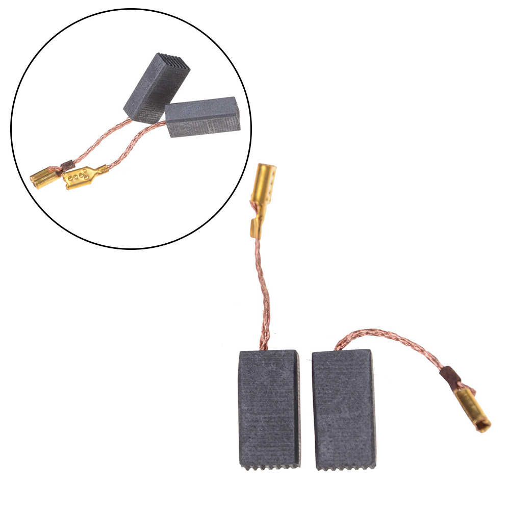 10PCS Graphite Copper Motor Carbon Brushes Set Tight Copper Wire for Electric Hammer/Drill Angle Grindern 15*8*5mm