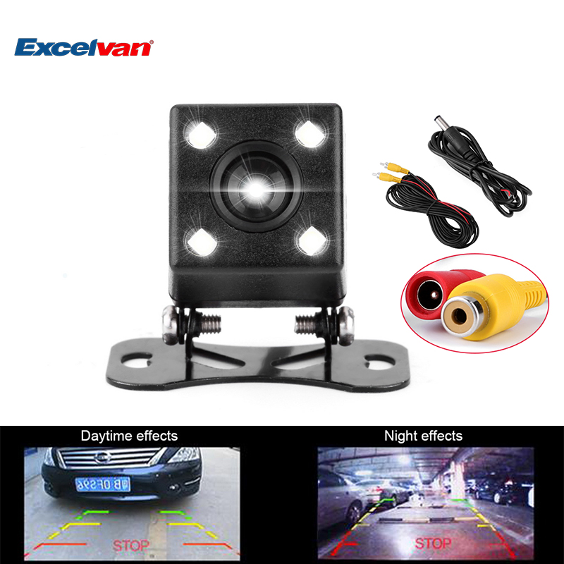 Universal NTSC 170Degree Wide Lens 4LED Car Rearview Camera Vehicle Parking Assistance Backup Reverse Night Vision+Parking Line